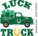 luck truck with loaded with... | Shutterstock .eps vector #1665728956