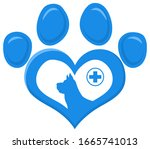 Veterinary Love Paw With Dog...