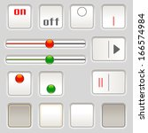 set of sliders and buttons for...