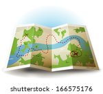cartoon grunge earth map icon ... | Shutterstock .eps vector #166575176