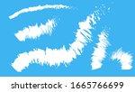 white brush strokes on a sky...   Shutterstock .eps vector #1665766699