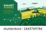 smart farm with drone control.... | Shutterstock .eps vector #1665769786