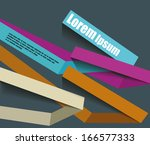 options banner design. vector... | Shutterstock .eps vector #166577333