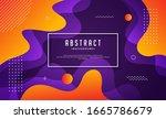 modern memphis background with... | Shutterstock .eps vector #1665786679