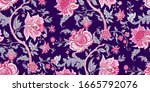 seamless vector vintage pattern ... | Shutterstock .eps vector #1665792076