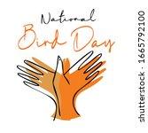 National Bird Day Vector...