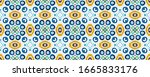 italian majolica watercolor.... | Shutterstock . vector #1665833176