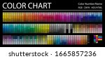 color chart. print test page.... | Shutterstock .eps vector #1665857236