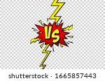 cartoon comic background. fight ... | Shutterstock .eps vector #1665857443