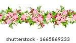 vector horizontal seamless... | Shutterstock .eps vector #1665869233