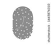 id app icon. fingerprint vector ...