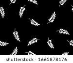 Seamless Pattern. White Twigs...