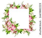 vector greeting or invitation... | Shutterstock .eps vector #1665882223