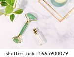 Jade Roller And Glass Perfume...