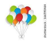 bright paper balloons | Shutterstock .eps vector #166590464