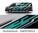 van car wrapping decal design   Shutterstock .eps vector #1665933013