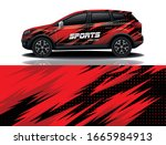 suv car wrapping decal design | Shutterstock .eps vector #1665984913