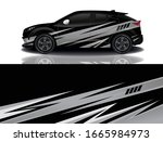 suv car wrapping decal design   Shutterstock .eps vector #1665984973
