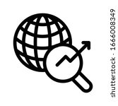 chart vector thin line icon    Shutterstock .eps vector #1666008349