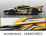 sports car wrapping decal design | Shutterstock .eps vector #1666014823