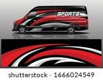 van car wrapping decal design | Shutterstock .eps vector #1666024549