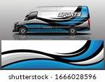 van car wrapping decal design | Shutterstock .eps vector #1666028596