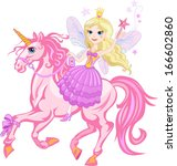 little fairy princess and... | Shutterstock .eps vector #166602860