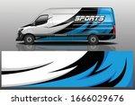 van car wrapping decal design   Shutterstock .eps vector #1666029676