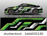 sports car wrapping decal design | Shutterstock .eps vector #1666032130