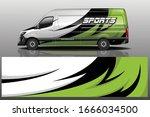 van car wrapping decal design   Shutterstock .eps vector #1666034500