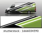 van car wrapping decal design   Shutterstock .eps vector #1666034590