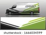 van car wrapping decal design | Shutterstock .eps vector #1666034599