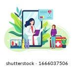 vector illustration online... | Shutterstock .eps vector #1666037506