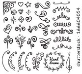 calligraphic illustration of... | Shutterstock .eps vector #166604054