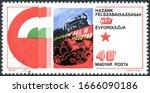 hungary   circa 1975  a stamp... | Shutterstock . vector #1666090186