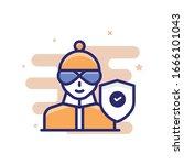 theft insurance vector... | Shutterstock .eps vector #1666101043