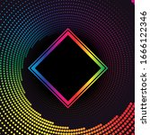 rainbow halftone dotted vortex... | Shutterstock .eps vector #1666122346