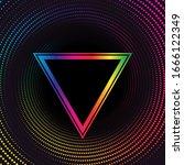rainbow halftone dotted vortex... | Shutterstock .eps vector #1666122349