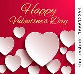 happy valentines day heart... | Shutterstock . vector #166612394