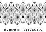 seamless vector floral border...   Shutterstock .eps vector #1666137670