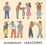 patients coughing and spreading ... | Shutterstock .eps vector #1666153849