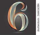 vintage retro style shiny...   Shutterstock .eps vector #166616384
