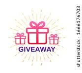 gift box icon design template....   Shutterstock .eps vector #1666176703