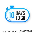 10 days to go. countdown timer. ... | Shutterstock .eps vector #1666176709