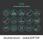 web icons. set of active sport...