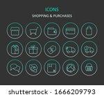 web icons. set of shop gradient ...