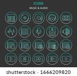 web icons. set of  music...
