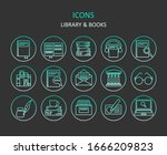 web icons. set of library...
