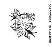old school tattoo emblem label... | Shutterstock .eps vector #1666222600