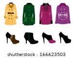 winter fashion | Shutterstock .eps vector #166623503